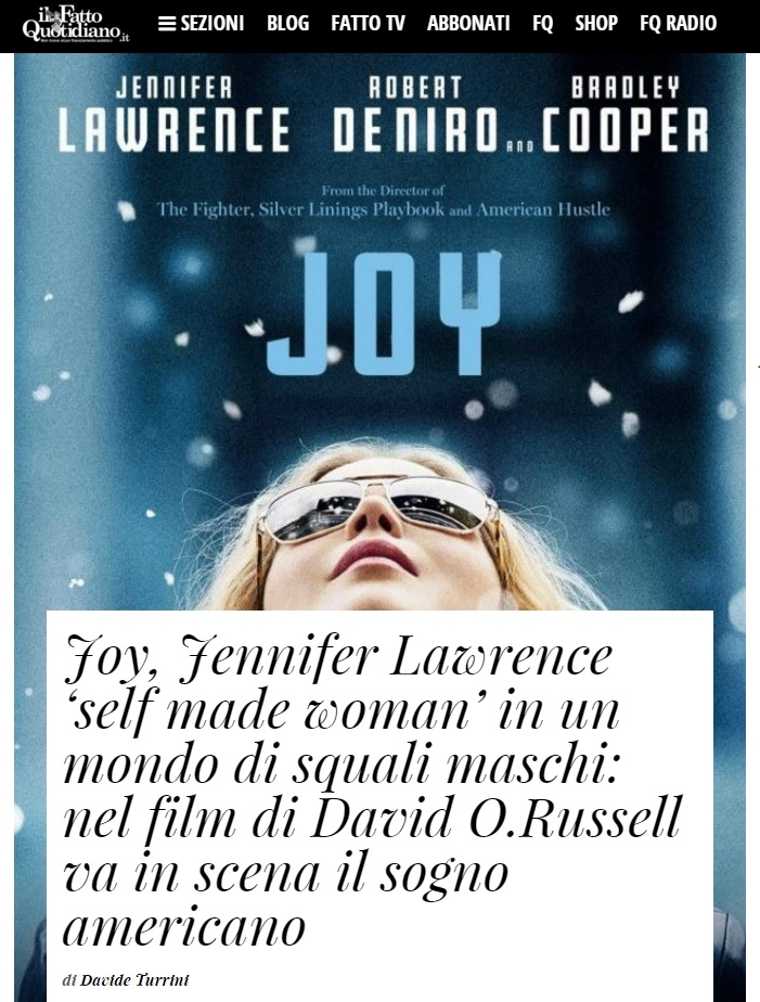 Joy Il Fatto Quotidiano