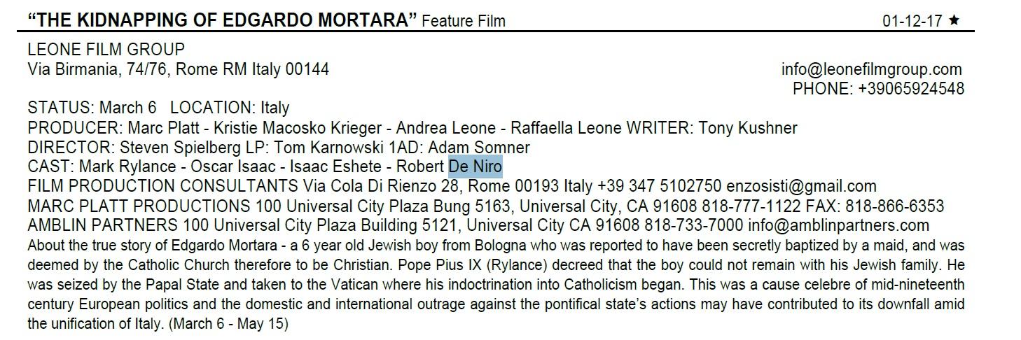 De Niro Mortara