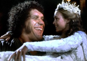 THE PRINCESS BRIDE, Andre the Giant, Robin Wright, 1987, TM & Copyright (c) 20th Century Fox Film Corp. All rights reserved.