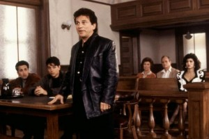 MY COUSIN VINNY, Mitchell Whitfield (far left), Ralph Macchio (second from left), Joe Pesci (third from left), Marisa Tomei (far right), 1992. ©20th Century Fox