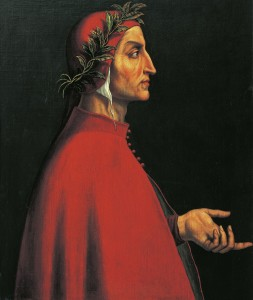 Portrait of Dante Alighieri (Florence, 1265 - Ravenna, 1321), Italian poet. Painting by the Italian school, 16th century. [Innsbruck, Schloss Ambras (Castle), Kunsthistorisches Museum Habsburger Portratgalerie (Portrait Gallery)] [11245882]