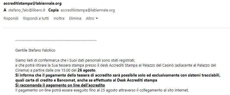 accredito stampa venezia