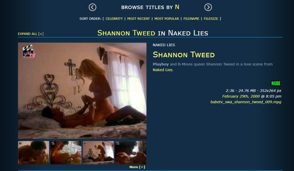 shannon tweed naked lies