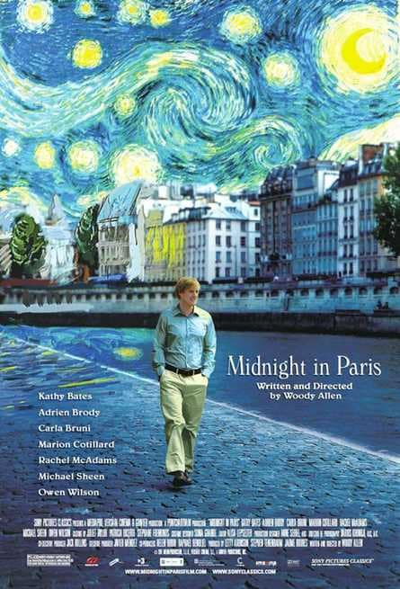 midnight in paris locandina